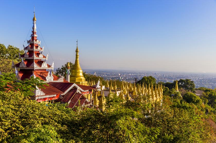 Temple de Sagaing, Myanmar, Birmanie