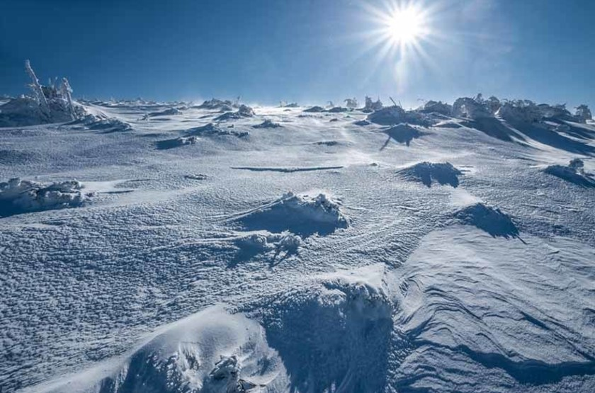 Désert de glace en Antarctique