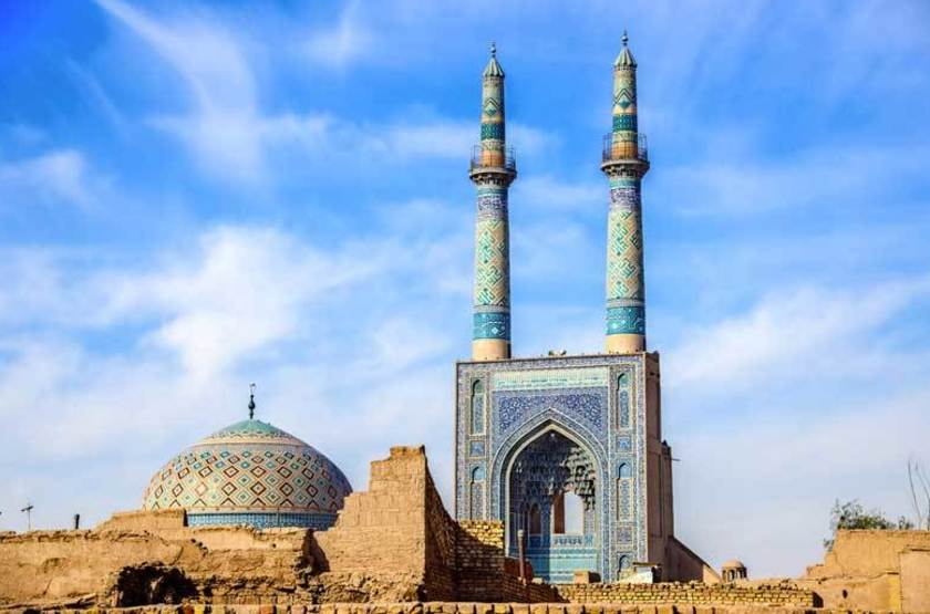 Mosquee Cheikh Lotfallah et les minarets, Ispahan, Iran