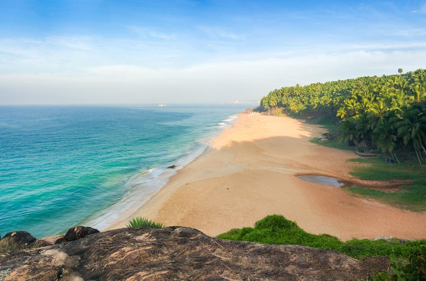 Plage de Kovalam, Inde du Sud