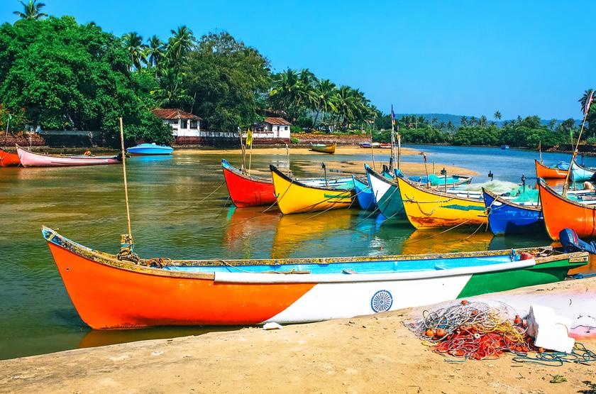 Bateaux de pêcheurs, Goa, Inde