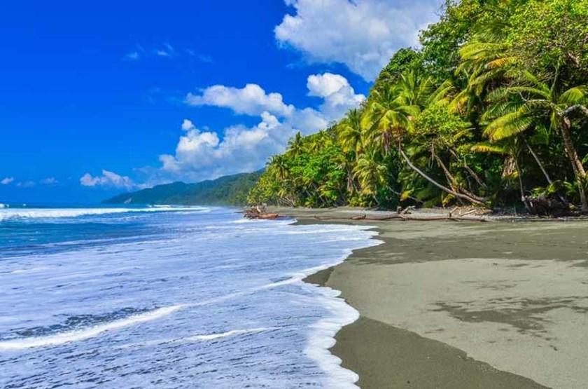 Plage et forêt tropicale du Parc National de Corcovado, Costa Rica