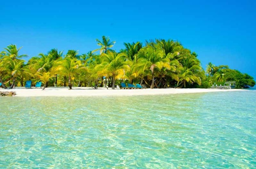 Plage de South Water Caye, Belize