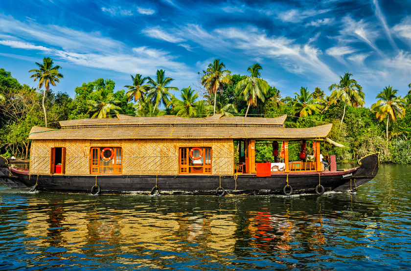 Boat House sur les Backwaters, Kerala, Inde
