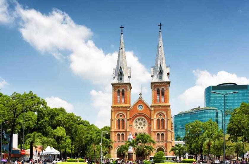 Cathédrale Notre-Dame de Saigon, Ho Chi Minh, Vietnam