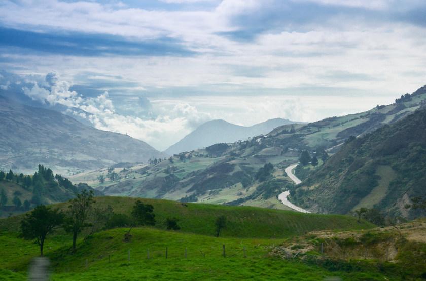 En route vers Cuenca, Equateur