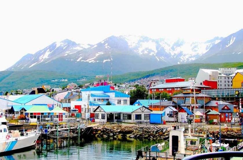 Maisons colorées d'Ushuaia, Patagonie