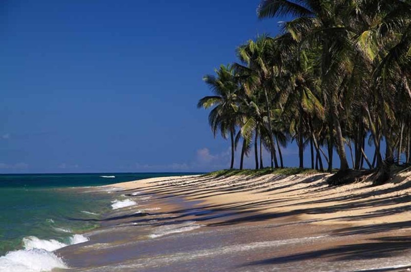 Une plage à Maceio, Brésil