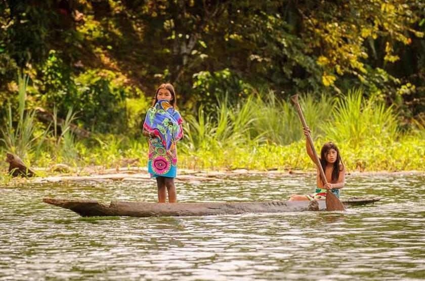 Jeunes filles Embera, Panama