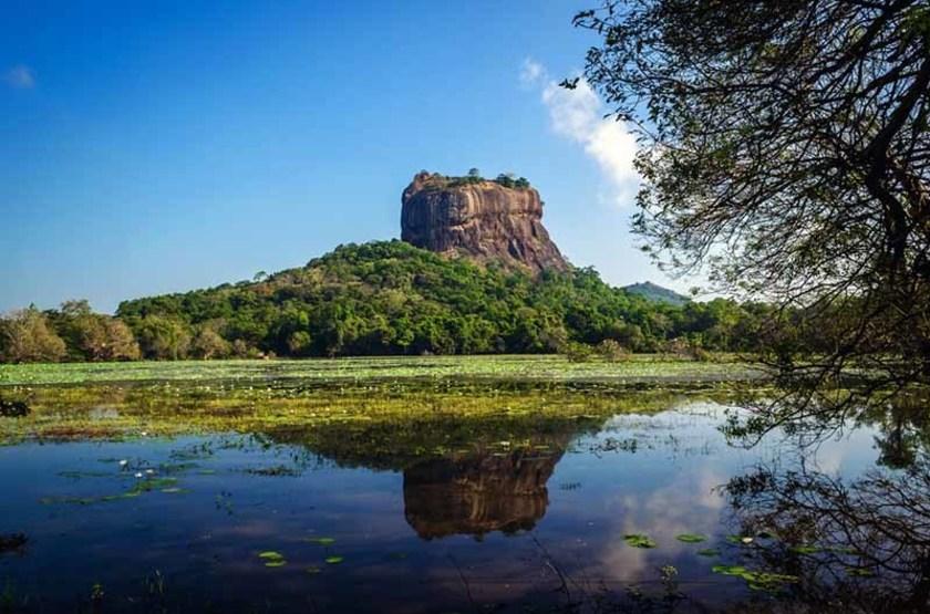 Forteresse et lac de Sigirîya, Sri Lanka