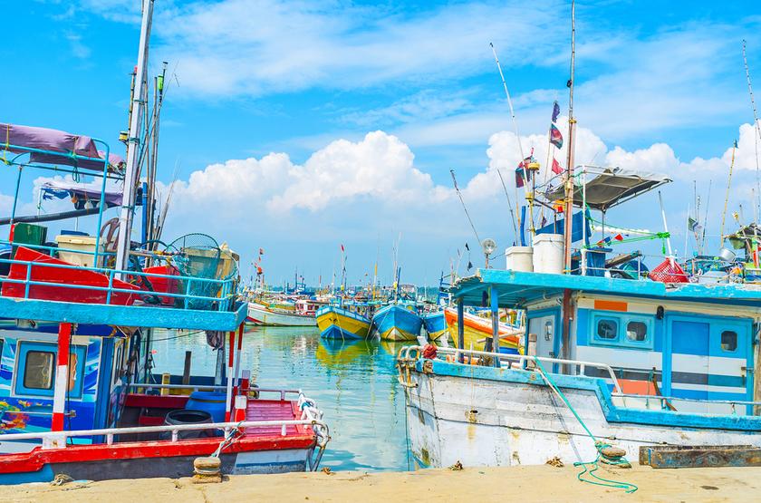 Bateaux de pêche, Sri Lanka