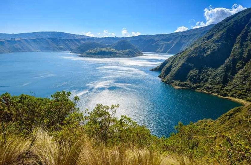 Lac de Cratère cuicocha, Réserve écologique Cotacachi Cayapas, Equateur