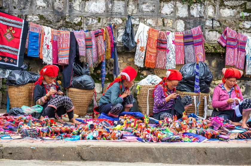 Marché, Sapa, Vietnam