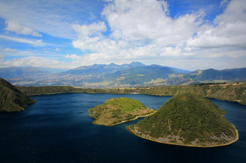 Lac de San Pablo, Otavalo, Equateur