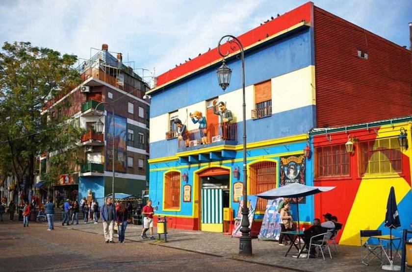 Rue Caminito du quartier La Boca à Buenos Aires