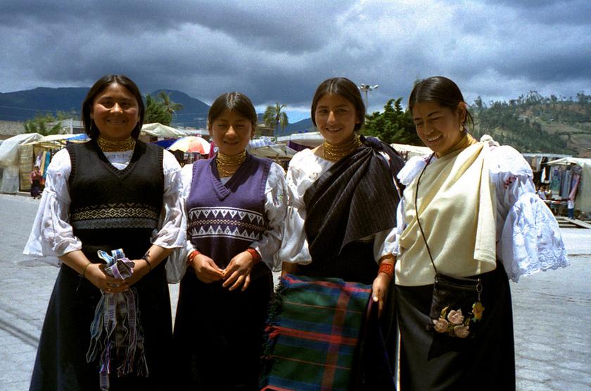 Jeunes femmes équatoriennes