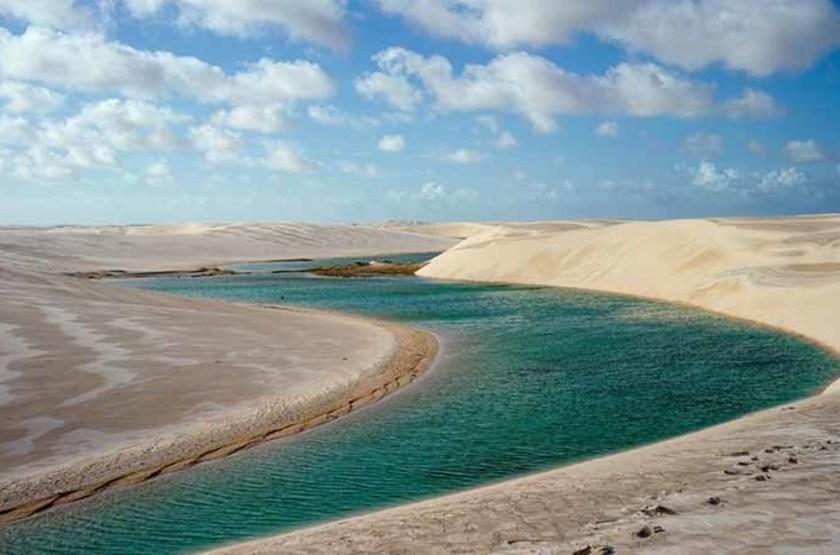 Dunes et lagons, Parc national des Lençóis Maranhenses, Brésil