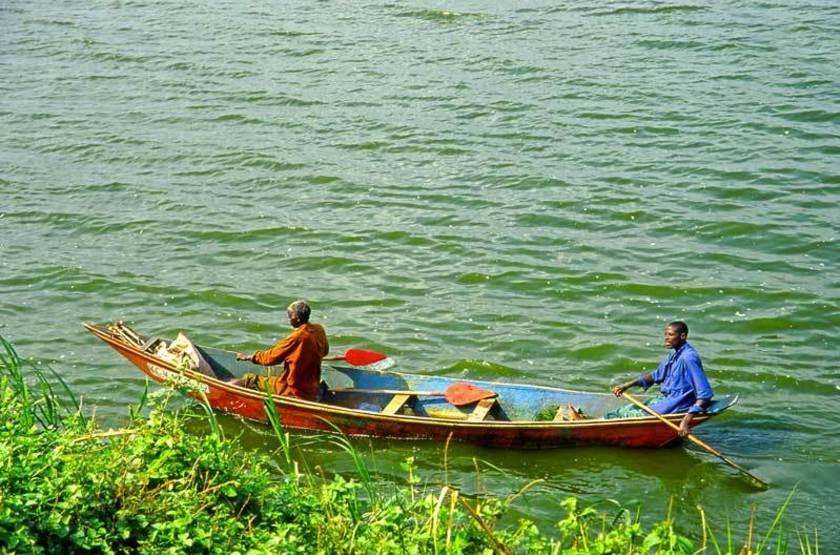 Pêcheurs, Parc National Reine Elisabeth, Ouganda
