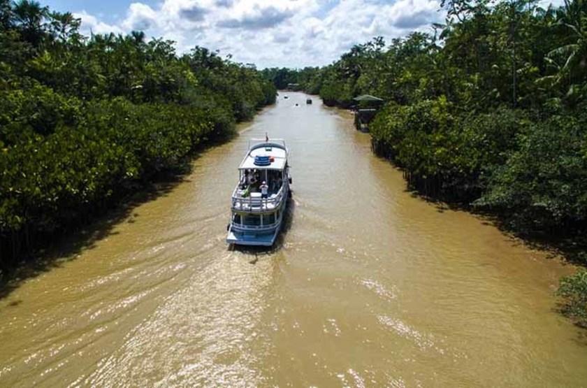 Balade sur la rivière de Marajo, Belem do Para, Brésil