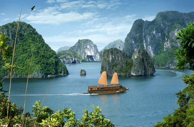 Jonque bai tho dans la baie d halong listing